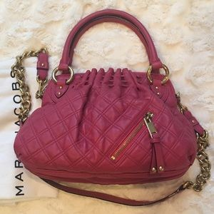 Marc Jacobs Pink Cecilia Quilted Leather Bag $995